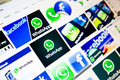 Facebook whatsapp deal to acquire messaging services for b Stock Photography
