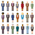 Faceless business crowd a of people of different ages and ethnicities Royalty Free Stock Photo