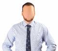Faceless man on white background Royalty Free Stock Photo