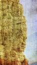 Faces of ancient Bayon Temple At Angkor Wat Stock Image