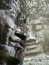 Faces in angkor thom Royalty Free Stock Photos