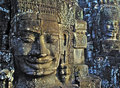 Faces at angkor wat. Royalty Free Stock Images