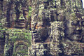 Faces of Angkor Wat (Bayon Temple) Stock Images