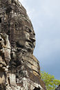 Faces of Bayon temple Stock Photo