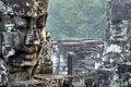 Faces of Bayon Temple  Angkor, Cambodia Stock Photography