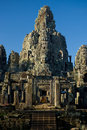 Faces Bayon Temple Tower Royalty Free Stock Image