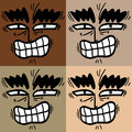 Faces color creative design of Stock Images