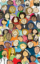 Faces in the crowd Royalty Free Stock Photo