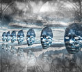 Faces empty in abstract composition Royalty Free Stock Photography