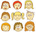 Faces icons Royalty Free Stock Images