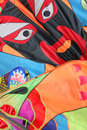 Faces on kites, Stock Images