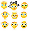 Faces ou avatars do smiley ajustadas Imagem de Stock Royalty Free