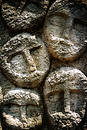 Faces on stone Royalty Free Stock Photo