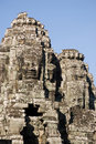 Faces on towers, Bayon Temple, Cambodia Stock Photography