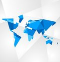 Facet world map  Stock Image