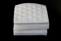 Facial cotton a white pads with black background Stock Photography