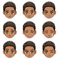 Facial expression of boy (African Descent) Royalty Free Stock Photo