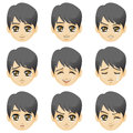 Facial expression of boy (Asian Descent) Royalty Free Stock Photo