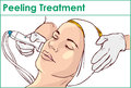 Facial Hydro Microdermabrasion Peeling Treatment Royalty Free Stock Photo