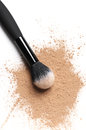 Facial loose powder and makeup brush