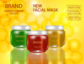 Facial Mask for Skin on the sparckling Background, Concept Skin Care Cosmetic.