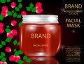 Facial Mask for Skin on the sparkling Background, Concept Skin Care Cosmetic.