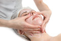 Facial massage with scrub mask Royalty Free Stock Photo