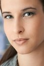 Facial portrait of beautiful young woman Royalty Free Stock Photography