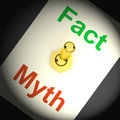 Fact myth switch shows correct honest answers showing Stock Photography