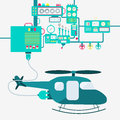 Factory and electric helicopter