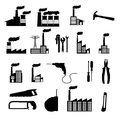 Factory icons over white background vector illustration Stock Photos