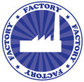 Factory logo Stock Photo