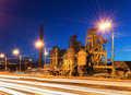 Factory a museum in russia based by demidov century night time lighting city nizhny tagil Stock Image