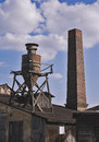 Factory old area with chimney Stock Images