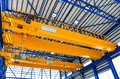 Factory overhead crane Royalty Free Stock Photo