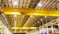 Factory overhead crane heavy duty Royalty Free Stock Photo