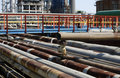 Factory rusted pipelines Royalty Free Stock Images