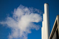 Factory smoke chimneys contaminate the air Stock Photo
