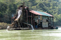Factory to seek gold nam ou river laos january a on january on the nam ou river laos Stock Photo