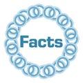 Facts Blue Rings Circular Royalty Free Stock Photo