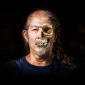 Fade skin to skull Royalty Free Stock Photo