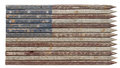 Faded Americana Wooden Flag Royalty Free Stock Photo