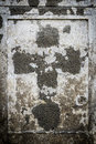 Faded cross  on an old parget wall Royalty Free Stock Photo