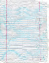 Faded, Stained and Torn Notebook Paper Royalty Free Stock Photo