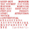 Faded Stenciled Warning Notices Stock Photos