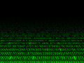 Fading hexadecimal background green computer code illustration Royalty Free Stock Photography