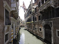 Fading Palaces on a small channel, Venice Royalty Free Stock Image