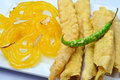 Fafda Jalebi Royalty Free Stock Photo