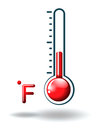 A fahrenheit scale illustration of on white background Stock Photo