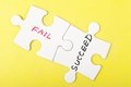 Fail or succeed Royalty Free Stock Photo